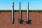 Types of screw piles